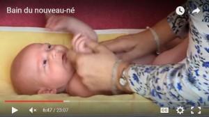 Miniature vidéo bain du nouveau-né