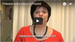 Miniature vidéo préparer votre séjour à l'hôpital