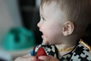 Photo - allergène fraise dans l'alimentation de bébé