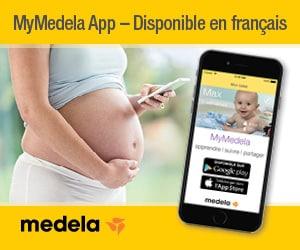 Publicité - Medela - MyMedelaApp - Disponible en français