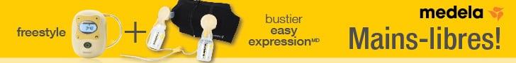 Publicité - Medela - Mains-libres! Freestyle + Bustier easy expressionMD